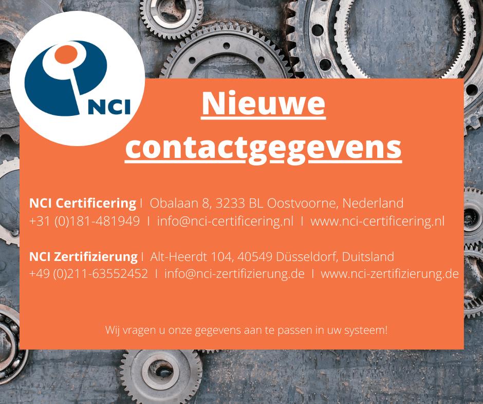 Contactgegevens NCI Certificering